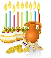 Hanukah with our friends in Israel